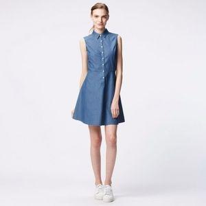 Uniqlo Blue Denim Sleeveless Dress Size L
